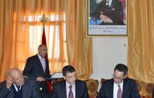 الأخ محمد زكراني رئيس المجلس الإقليمي لخريبكة يعطي انطلاقة إعداد برنامج تنمية الإقليم