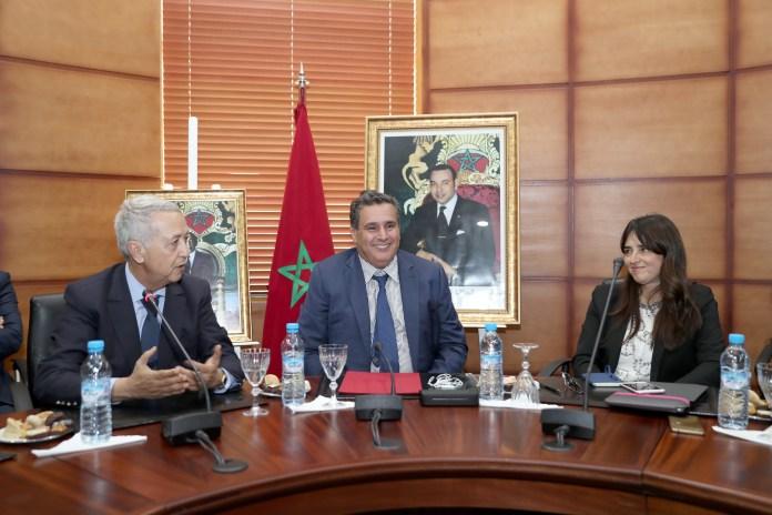 تسليم السلط بين السيد محمد ساجد والسيد عزيز أخنوش بمقر وزارة السياحة