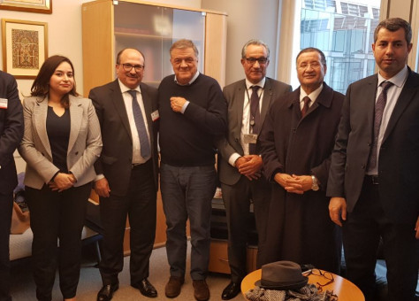 وفد برلماني مغربي يتقدمهم الشاوي بلعسال في زيارة للبرلمان الأوروبي للترافع عن الوحدة الترابية