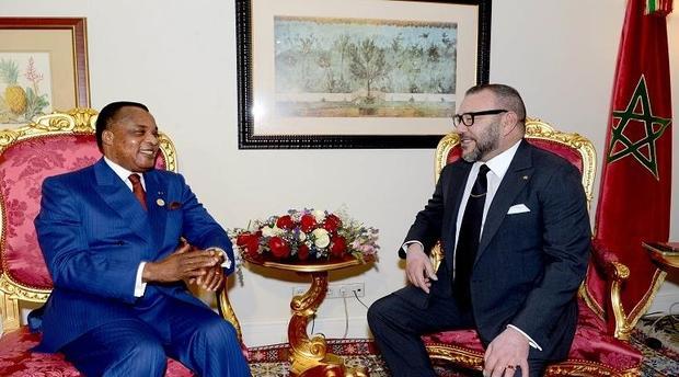 جلالة الملك محمد السادس ورئيس جمهورية الكونغو يترأسان حفل التوقيع على عدد من اتفاقيات التعاون