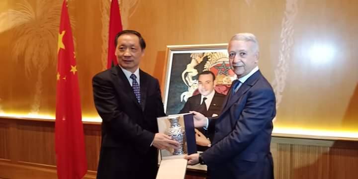 مراكش// السيد ساجد يستقبل نائب وزير الثقافة والسياحة الصيني
