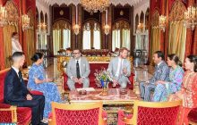 جلالة الملك يقيم حفل شاي على شرف الأمير هاري وعقيلته