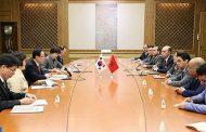 بحضور كريم الشاوي  وفد برلماني من مجلس النواب يجري مباحثات بسيول مع النائب الأول لرئيس الجمعية الوطنية الكورية
