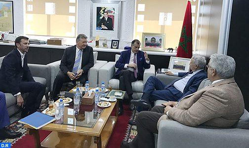 إعطاء انطلاقة مشاريع جديدة بالمغرب محور مباحثات السيد ساجد مع رئيس نادي المتوسط