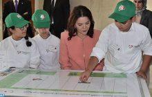 صاحبة السمو الملكي الأميرة للا حسناء، رئيسة مؤسسة محمد السادس لحماية البيئة، تترأس ببوقنادل حفل افتتاح المركز الدولي الحسن الثاني للتكوين في مجال البيئة