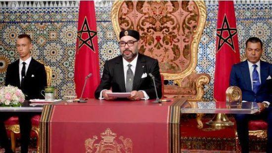 خطاب العرش السامي سيبث على أمواج الإذاعة وشاشة التلفزة ابتداء من الساعة التاسعة من مساء يوم غد الاثنين