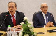 السيد عبيابة يتسلم وزارة الشباب والرياضة من السيد رشيد الطالبي العلمي