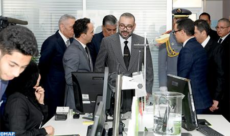 جلالة الملك يدشن مدينة الابتكار سوس - ماسة، تجسيد للتنزيل الجهوي لمخطط التسريع الصناعي