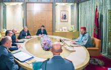 جلالة الملك يترأس جلسة عمل لتتبع تدبير انتشار وباء كورونا بالمغرب